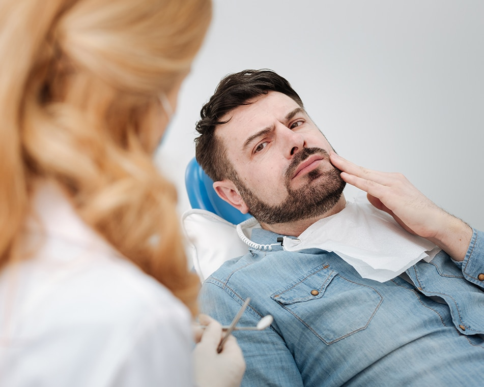 LCIAD dental emergency, lost filling broken tooth