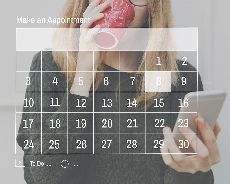 LCIAD new patient appointmnet calendar