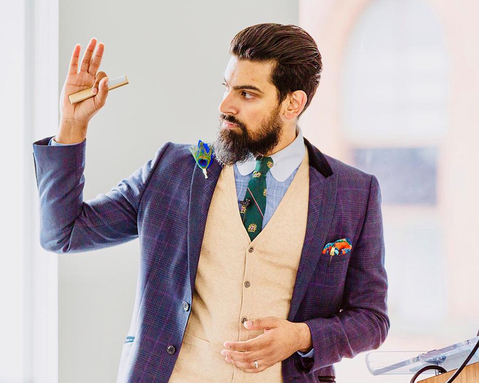 LCIAD Dr Shiraz Khan lecturing